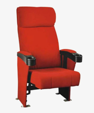 Auditorium Chair High Back With Cup Holder